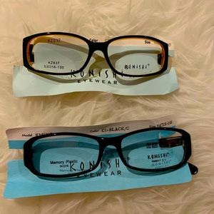 2X New Konishi eyeglasses, no case
